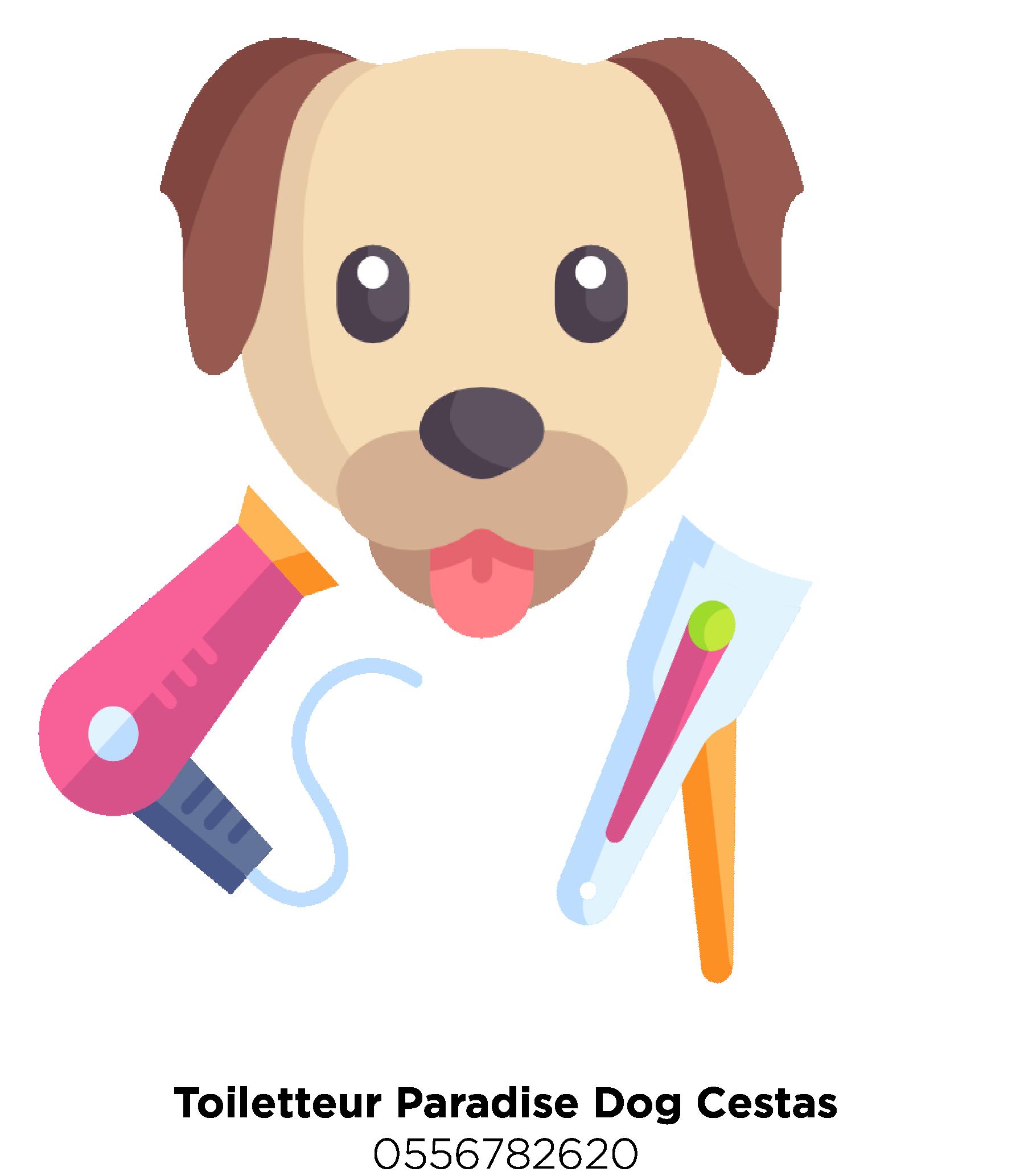 Logo-Toiletteur Paradaise Dog à Cestas